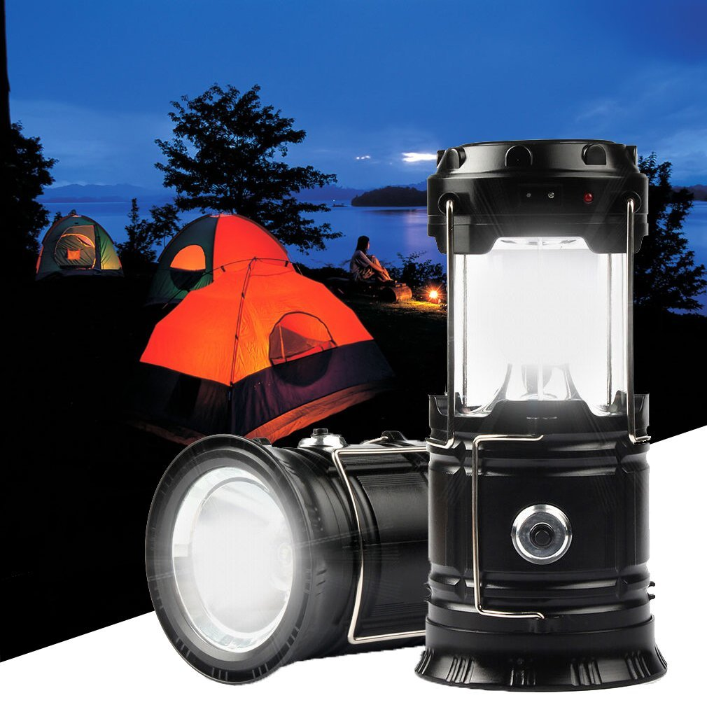 Solar Camping Light and Flashlight, Portable Rechargeable Collapsible LED Lamp Camping Lantern for Outdoor Survival, Tent Light, Backpacking... by