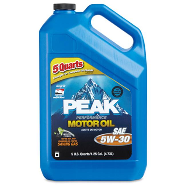 Peak P3M055 4. 47 x 12. 49 inch 5W30 Motor Oil - 5 Quart, Pack Of 3