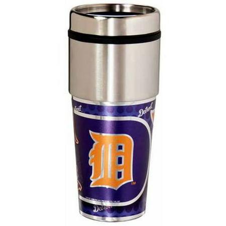 MLB Detroit Tigers 16 oz Metallic Coffee Travel Mug