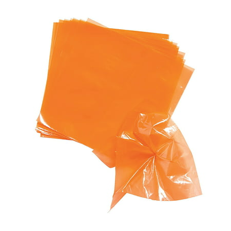 Fun Express - Orange Poly Float Pomps for Party - Craft Supplies - Bulk Craft Accessories - Misc Bulk Craft Accessories - Party - 100 Pieces (Bulk Fabric)