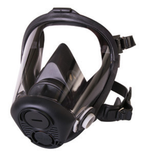 North by Honeywell Small Black RU6500 Series Full Mask APR Facepiece With 5 Point Headstrap And Nosecup