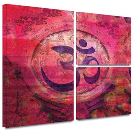 ArtWall 'Om Mandala' by Elena Ray Flag 3 Piece Graphic Art on Wrapped Canvas Set