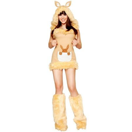 Women's Sexy Kangaroo Cutie Deluxe Costume (Diy Kangaroo Costume)