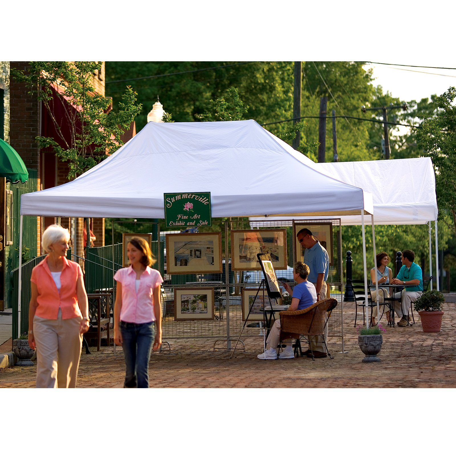 10' x 15' Pro Pop-up Canopy Straight Leg, White Cover by ShelterLogic