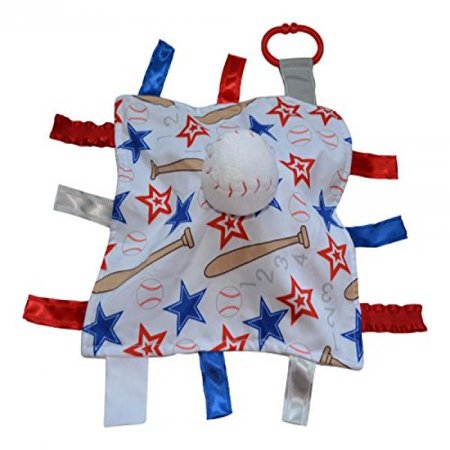 Baseball Baby Toy Sensory Security Educational Tag Blanket