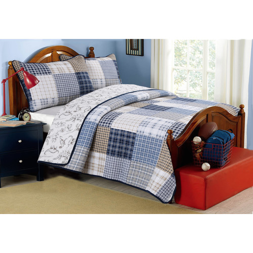 Cozy Line Home Fashion Benjamin Reversible Quilt Set