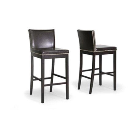 Surprising Wholesale Interiors Graymoor 70 Modern Bar Height Stool Set Of 2 Brown Inzonedesignstudio Interior Chair Design Inzonedesignstudiocom