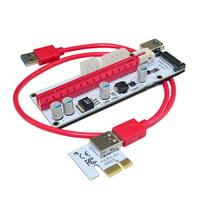 USB 3.0 Pcie PCI-E Express 1X To 16X GPU Extender Riser Card Adapter BTC ETH USA