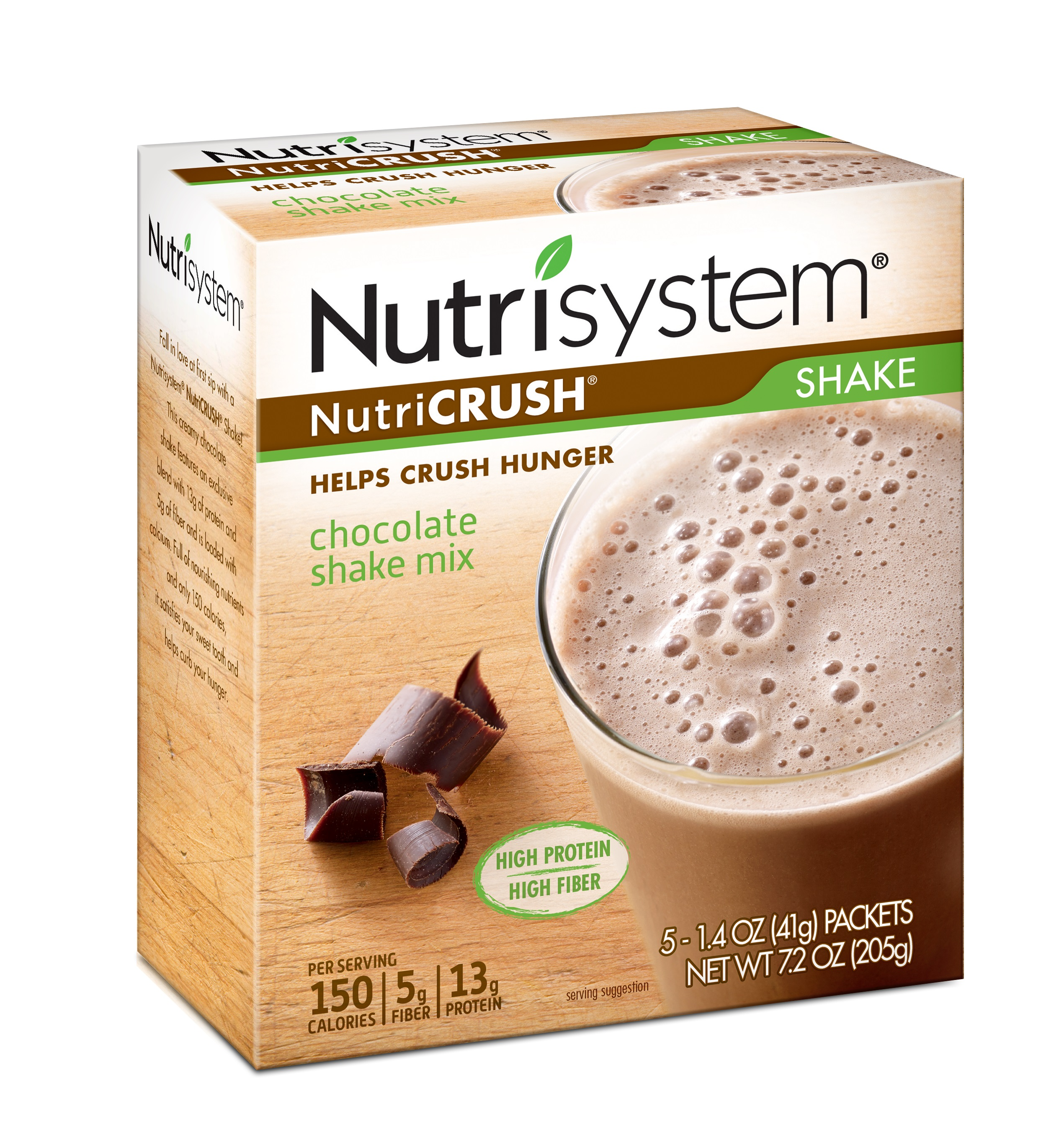 Nutrisystem NutriCrush Chocolate Shake Mix, 1.4 Oz, 20 Ct