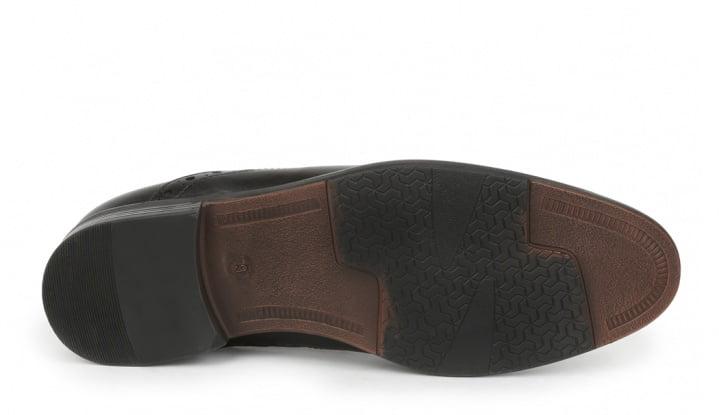 Giorgio Brutini FOSTER Mens Black Leather Chelsea Closed Toe Boots