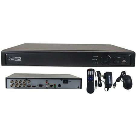 2TB 8-Channel Self-Adaptive HDTVI/HDCVI/AHD/CVBS DVR input 3MP @15FPS Recording