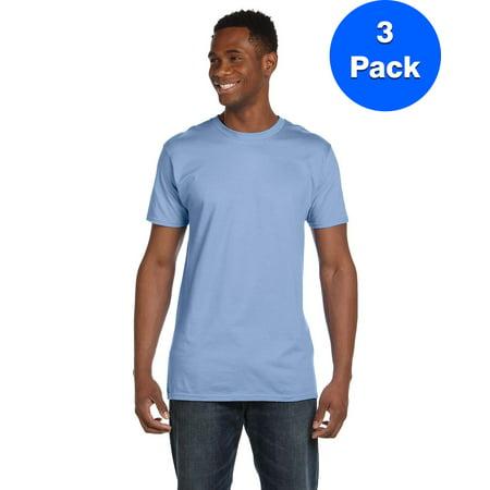 63ac76cf Hanes - Mens 100% Ringspun Cotton nano-T T-Shirt 4980 (3 PACK ...