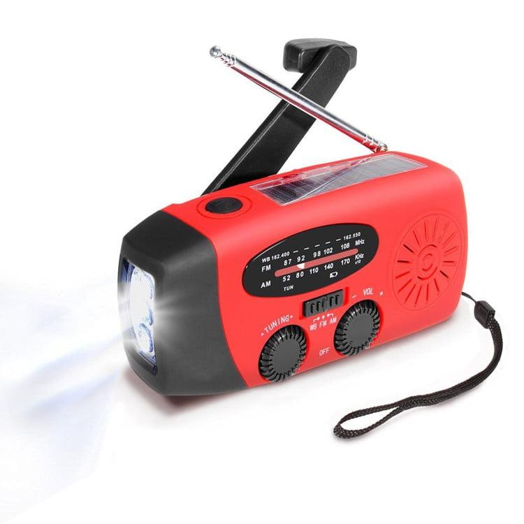 Emergency Solar Hand Crank Radio, Portable Dynamo AM FM WB Weather Radio LED Flashlight... by OCDAY