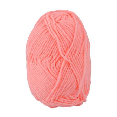 Home DIY Handicraft Crochet Winter Scarf Sweater Yarn Cord String Coral Pink 25g