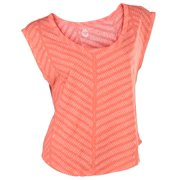 Roxy Juniors Webbed Cropped Tee Shirt-Coral Pink