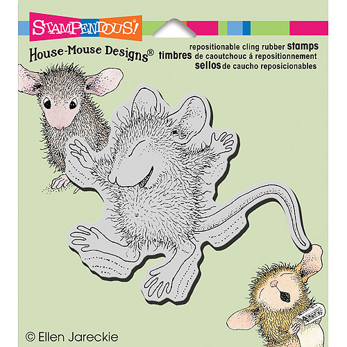 """Stampendous House Mouse Cling Stamp 3.5""""X4""""-Tiny Jumper"""