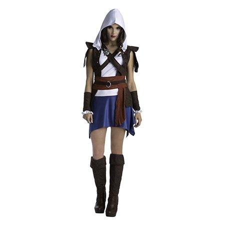 Palamon Women's Assassin's Creed Sassy Edward Classic Costume, Blue, - Women's Assassin's Creed Costume