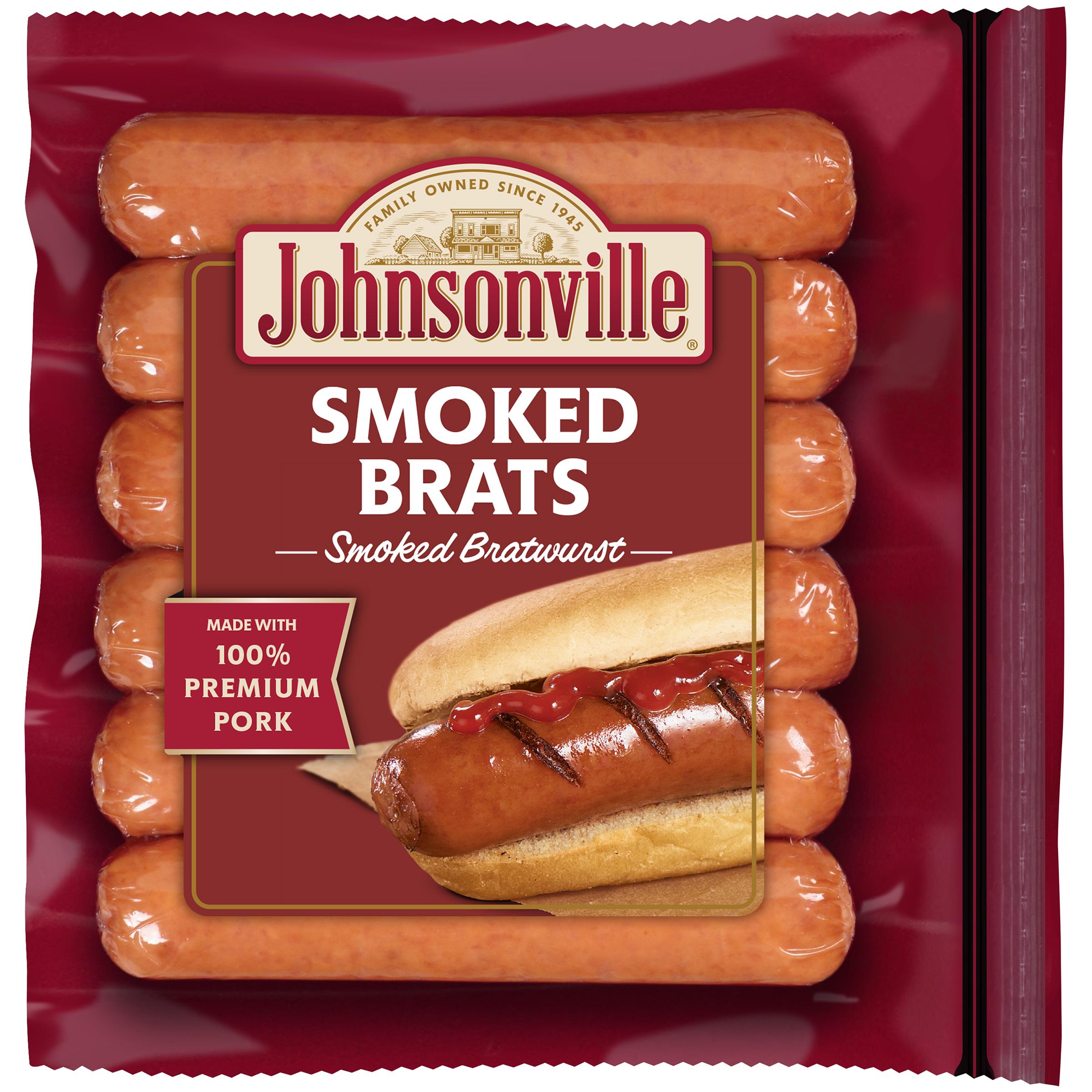 Johnsonville Smoked Brats 14oz zip pkg (100867) Holiday Promo
