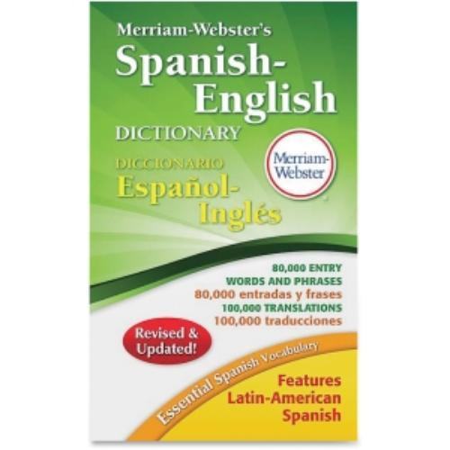 Merriam-webster Spanish-english Dictionarydictionary Printed Book - Spanish, English - Softcover (mer-824)