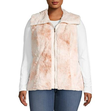 Plus Classic Faux Fur Vest
