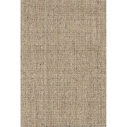3' x 5' Wheat and Russet Daytona Hand Woven Sisal Solid Pattern Area Throw Rug