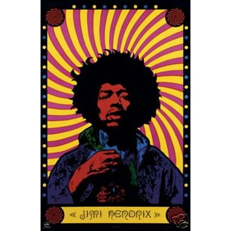 Psychedelic Rock Posters (Jimi Hendrix Psychedelic Band Of Gypsys Poster New 24x36 )