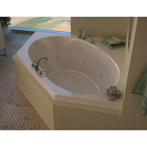 Spa Escapes Tortola Dream Suite 58'' x 58'' Corner Air & Whirlpool Jetted Bathtub