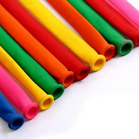 200Pcs Mixed bright color Colorful Magic Long DIY Animal Tying Making Balloons Holiday Decor Twist Latex (Animal Twist Balloons)