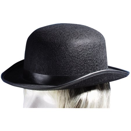 Loftus Steampunk Felt Derby Bowler Adult Costume Hat, Black, One Size