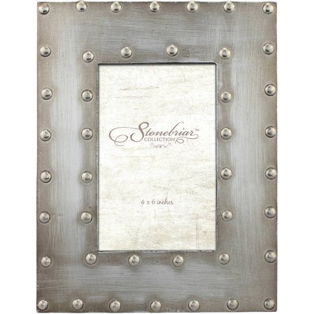- Metal Wrapped Frame with Rivet Detail