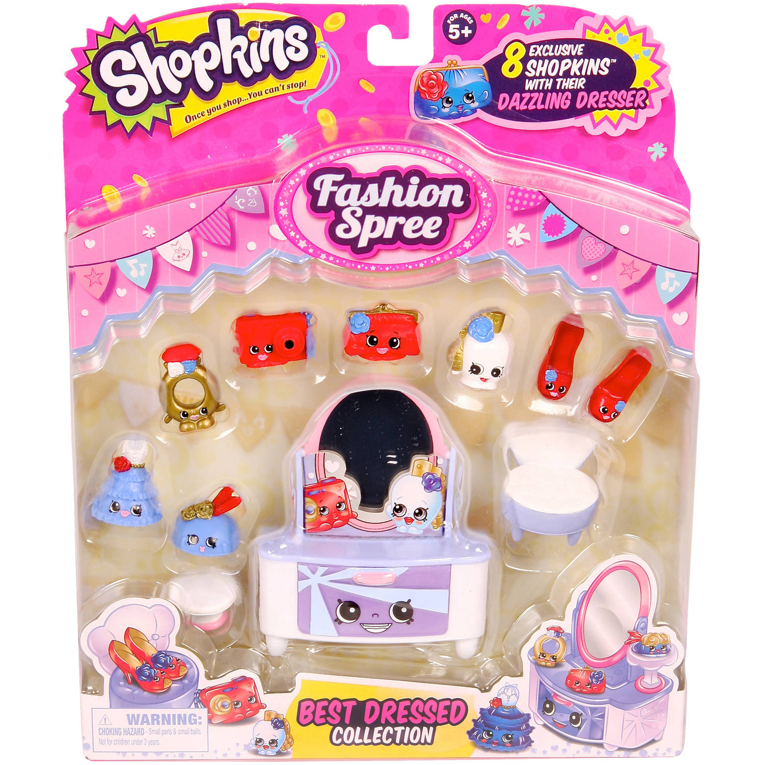 Moose Toys Shopkins Season 3 Fashion Spree Themed Pack Best Dressed Collection