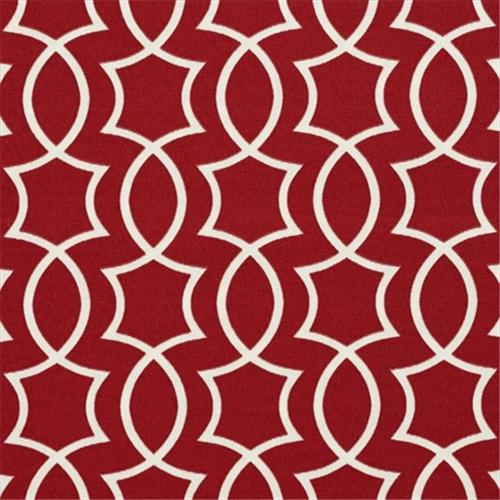 Designer Fabrics A278 54 inch Wide Outdoor Indoor Marine Upholstery Fabric, Red And White