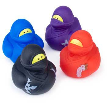 Ninja Rubber Ducks (12 pack) - Party Supplies