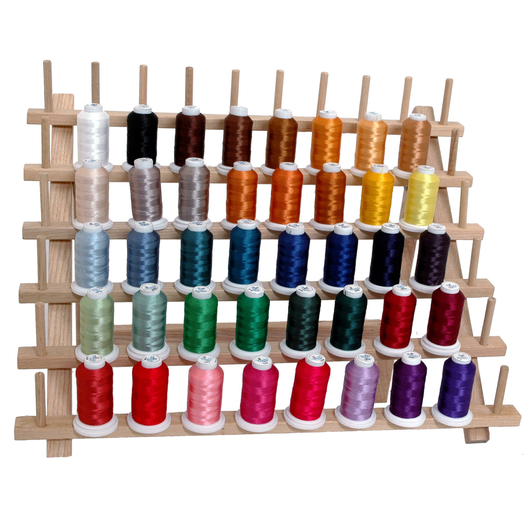 Threadart 40 Cone 500M Polyester Embroidery Thread Set - 4 different sets available