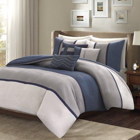 Palisades Comforter Set (Madison Park Palisades 7 Piece Comforter Set-Blue-Cal.King, California King)