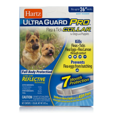 Hartz UltraGuard Pro Flea and Tick Prevention Collar for Dogs, 7 Month Collar (Ugg For Dogs)