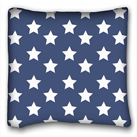 WinHome Personalized Square Pillowcases Stars And Stripes Patriotic Design Throw Pillow Case Cases Cover Cushion Covers Sofa Size 18x18 Inches Two Side](Patriotic Pillows)