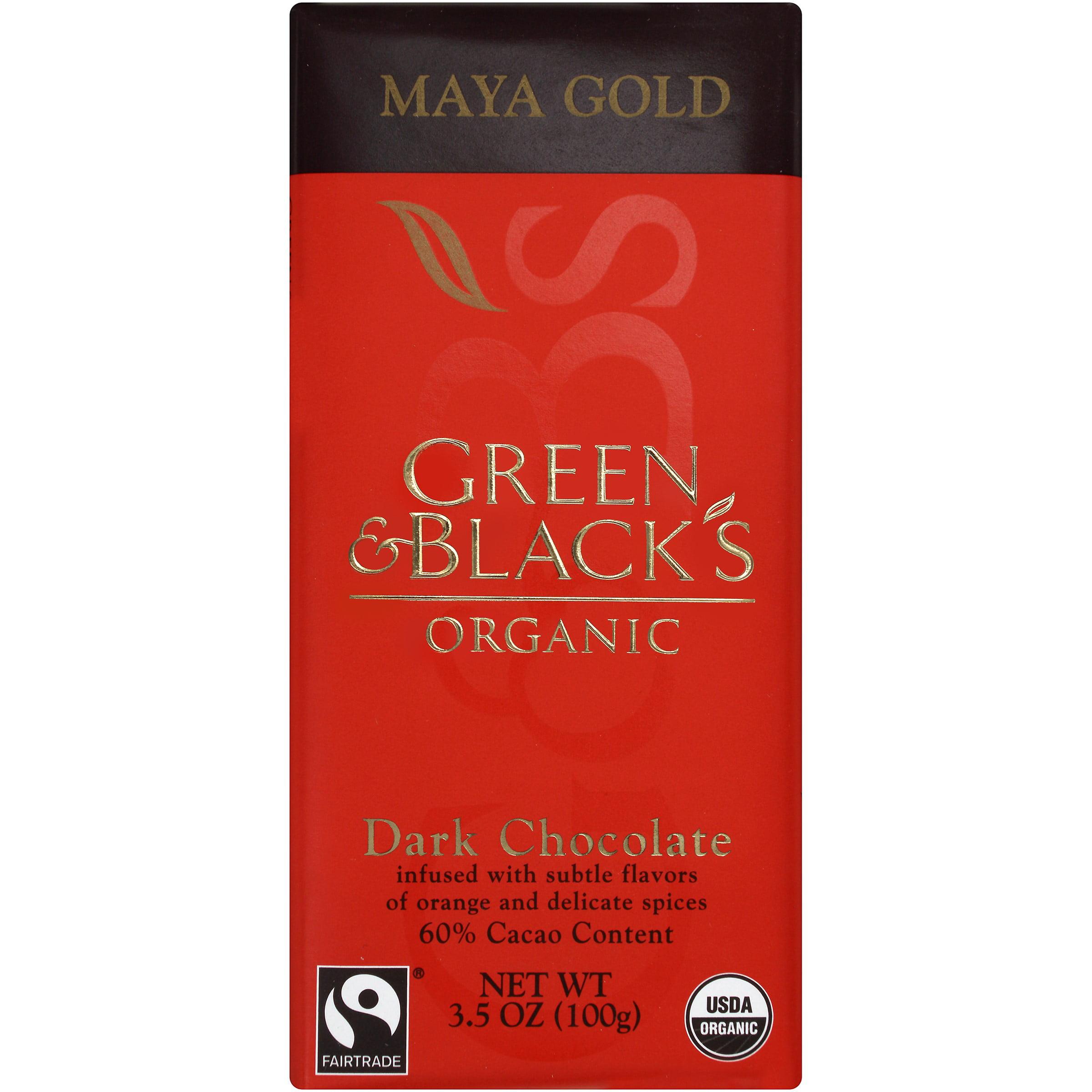 Green and Blacks Organic Maya Gold Dark Chocolate 3.5 Oz Bar by Mondelez