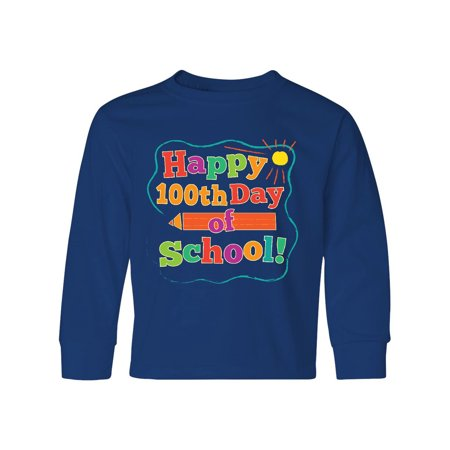 Happy 100th Day Of School Youth Long Sleeve T-Shirt](100th Day Shirt Ideas)