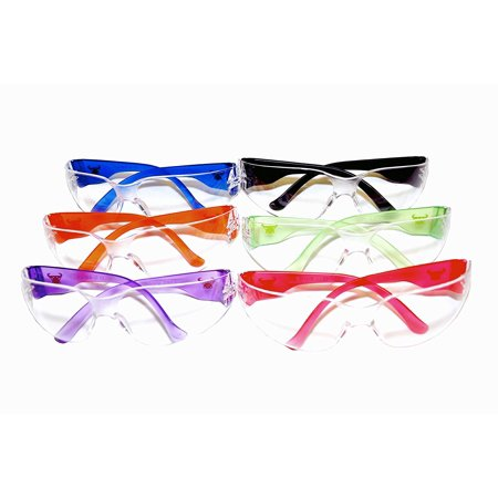 13016-6 EyePRO Scratch, Impact and Ballistic Resistant Safety Goggles with Clear Lens (6 Pack), Lightweight, frameless impact protection safety glasses and.., By G &