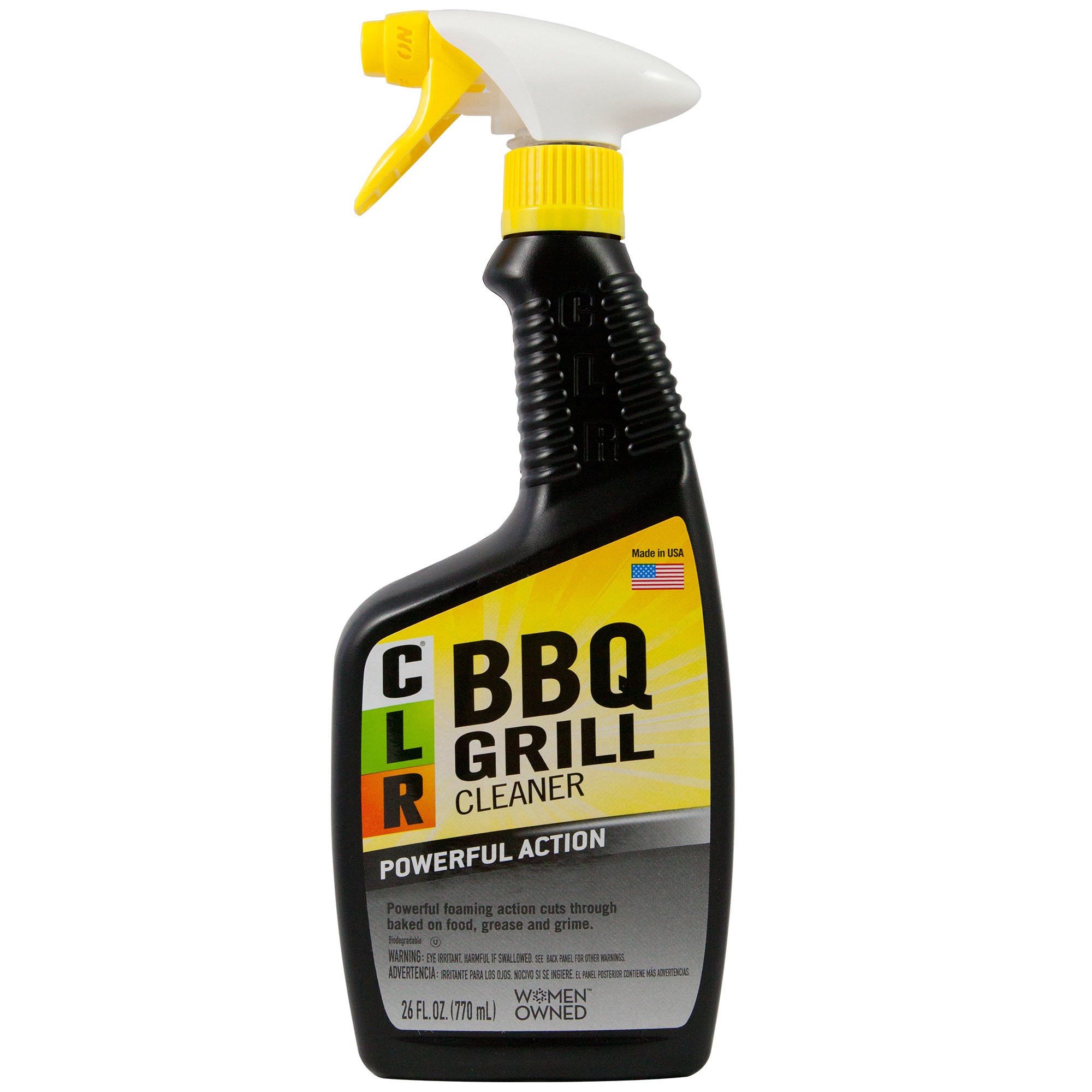 CLR BBQ Grill Cleaner, Powerful Foaming Trigger, 26 Oz Spray Bottle