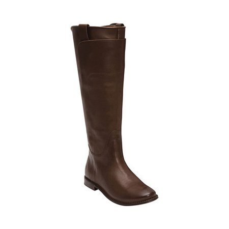 f348444d7dd Women's Frye Paige Tall Riding Boot Brown Tumbled Leather 15 M