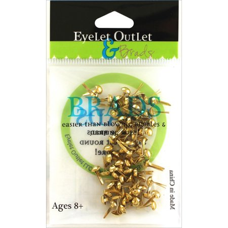 Eyelet Outlet Round Brads 4mm (Craft Eyelets)