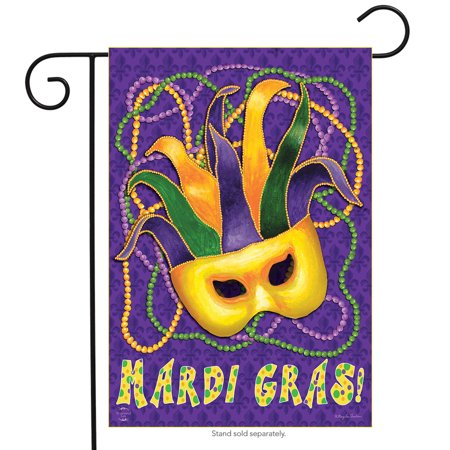 Mardi Gras Garden Flag Mask Beads Holiday 12.5