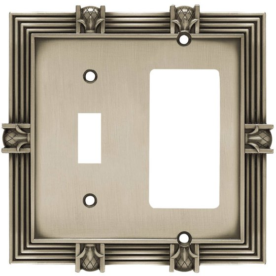 Franklin Brass Pineapple Single Switch and Decorator/GFCI Wall Plate,  Available in Multiple Colors