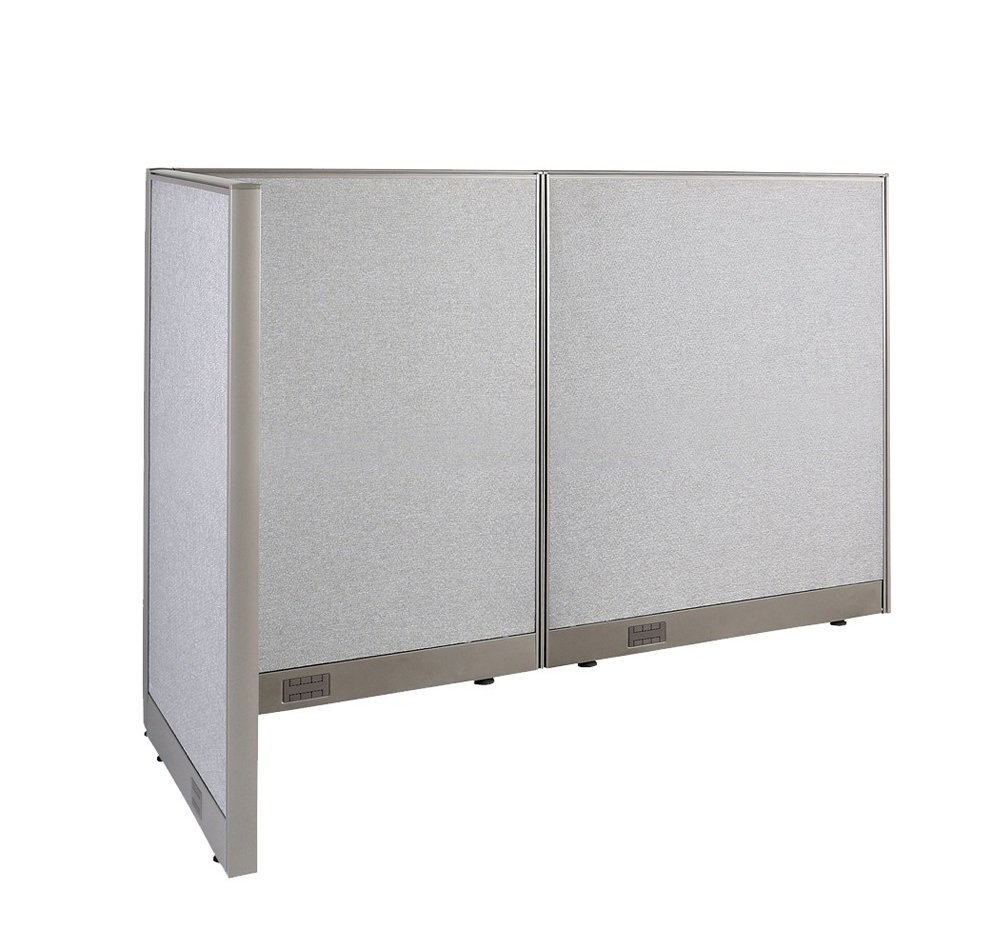 Beau GOF L Shaped Freestanding Office Panel Cubicle Wall Divider Partition 30D X  66W X 48H