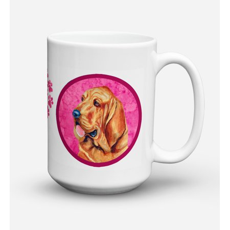 Bloodhound Dishwasher Safe Microwavable Ceramic Coffee Mug 15 ounce