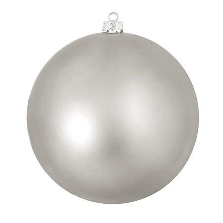 Shatterproof Matte Light Gunmetal Gray UV Resistant Commercial Christmas Ball Ornament 8