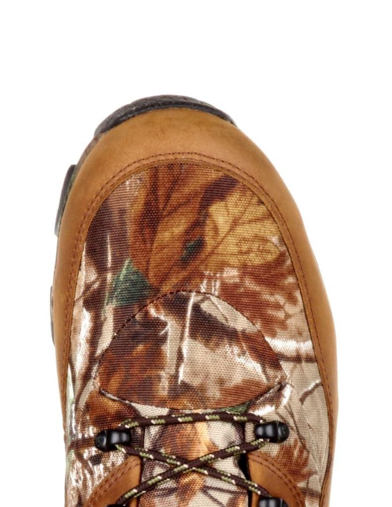 Rocky Outdoor Boots Men Claw Leather Nylon Brown Realtree AP RKS0334