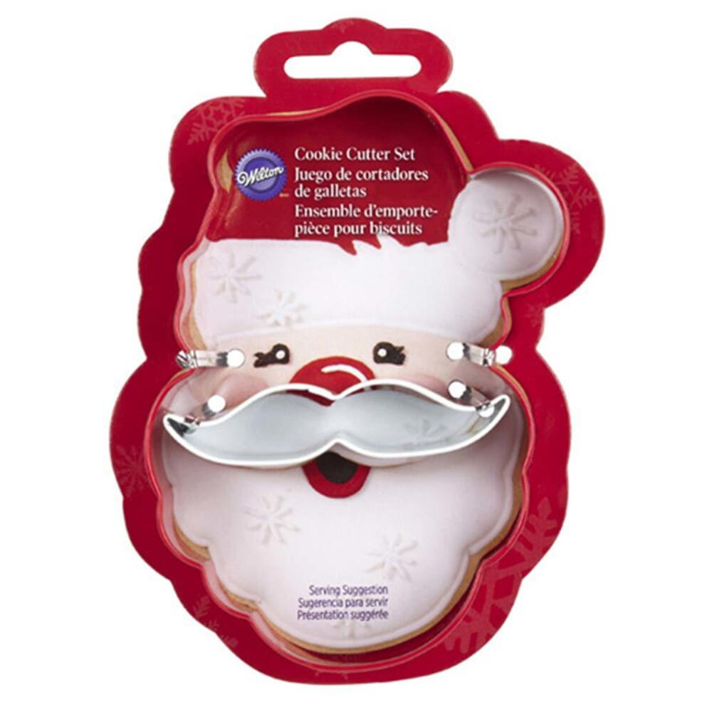 Wilton Industries 2308-3270 2-Piece Christmas Santa Face Cookie Cutter Set Multi-Colored